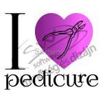 Pedikűrös póló - I love pedicure