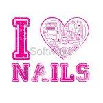 Körmös mintás minőségi póló - I LOVE NAILS